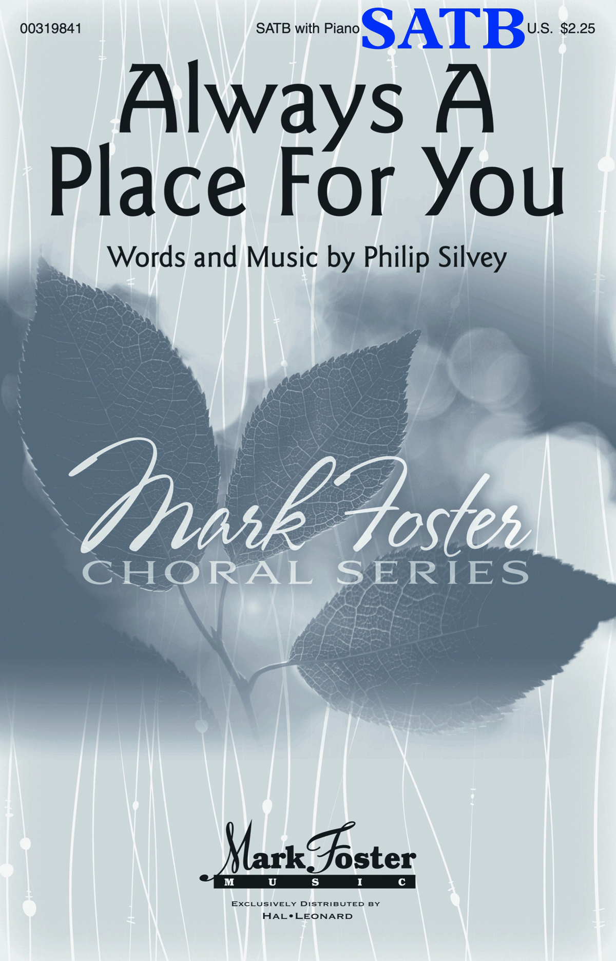 Always a Place for You - SATB - choral score cover