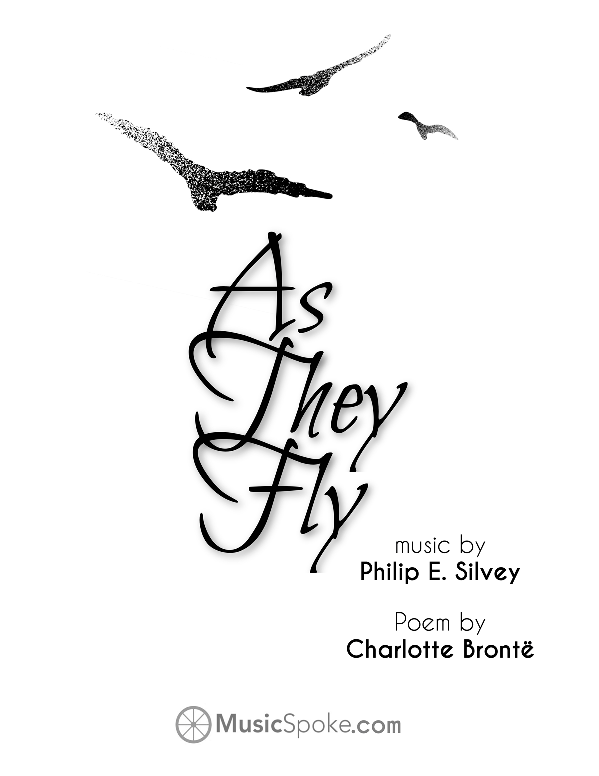 As They Fly - choral score cover